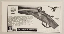 1966 Print Ad Dickson Silver & Golden Eagle Double-Barrel Shotguns Made in Italy - $9.78