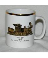 New York & Harlem Railroad #26 1876 Gold Rim Coffee Cup Mug - $13.99