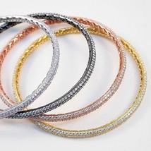 ZirconZ Custom--Pave Signity Cubic Zirconia  Eternity Bangle Bracelet-4 Colors - $149.99