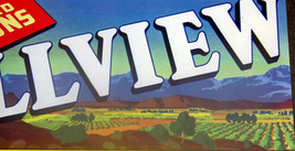 Heart of the Valley! Hillview Crate Label, 1940's  - $2.39