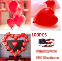 100PCS 12inch Red Heart Latex Balloons Valentine Proposal Wedding Party Decor - $8.30