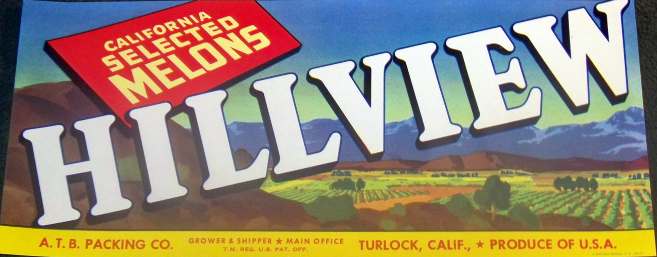 Heart of the Valley! Hillview Crate Label, 1940's