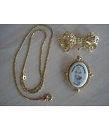 Precious Moments Goldtone Pendant, Brooch, Chain, 1999 - $17.99