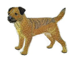 Amazing Custom Dog Portraits [Border Terrier] Embroidery Iron On/Sew pat... - $9.89