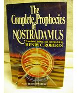Complete Prophecies of Nostradamus 1982 Roberts Hb - $3.00