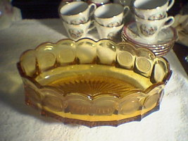 SOLD~~~~~~FOSTORIA COIN AMBER SERVING BOWL - $25.00