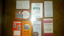 Keystone K-36 Movie Camera Instruction Manual & Addtional Inserts RARE H... - $19.80