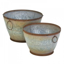 Tapered Galvanized Planters - $48.08