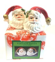 Fitz and Floyd Vintage Santa Salt & Pepper Shakers IOB Omnibus - $29.99