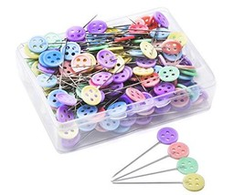 JoyFamily 200 Pieces Flat Button Head Pins Boxed for Sewing DIY Projects... - $8.10