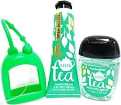 Bath and Body Works Green Tea Hand Cream, PocketBac & Green Holder - $18.33