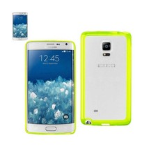 REIKO SAMSUNG GALAXY NOTE EDGE CLEAR BACK FRAME BUMPER CASE IN GREEN - $7.95