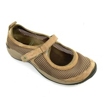 "MERRELL ""Encore Strap"" J66752 Deep Tan Suede Mesh Mary Janes Size 9.5  - $24.74"