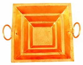 Traditional Indian Copper Energized Hawan / Havan Kund For Pooja Small F... - $25.75