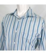 John W Nordstrom Italian Striped Button Front Casual Dress Shirt Mens Me... - $12.86