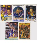 Los Angeles Lakers Signed Lot of (5) Trading Cards - Perkins, Woolridge,... - $14.99