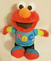 "ELMO Singing ABC Sesame Street Plush Doll Hasbro Electronic Talking Toy 12"" - $21.34"