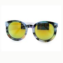 Paradise Beach Palm Tree Print Sunglasses Women's Round Oversized Mirror - £7.13 GBP