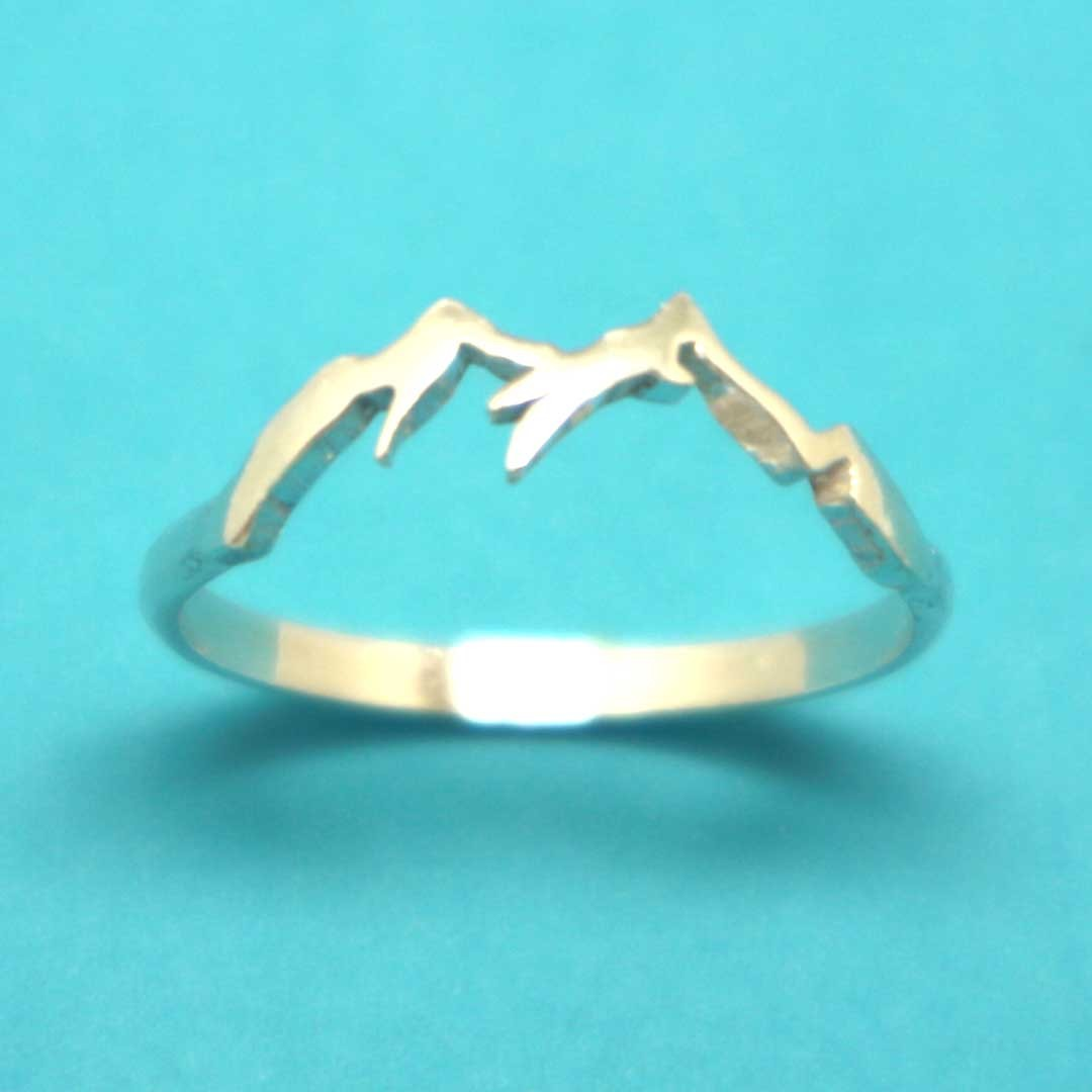 Primary image for Handmade 925 Sterling Silver Mountain Range Ring, Ring Size US 4 - 14