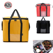 42L Large Insulated Thermal Cooler Picnic Bag Camping Lunch Tote Storage... - $22.98