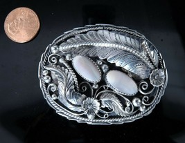 Vintage Navajo Sterling and mother of pearl Belt buckle - $341.28