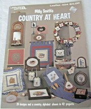Leisure Arts Cross Stitch Pattern Book 42 Project Leaflet #404 Country at Heart - $3.95