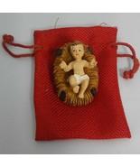 "Baby Jesus crib 2"" Figurine Christmas Holiday gift Jesus nativity set be... - $7.91"