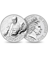 2015 Sir Winston Churchill Commemorative UK £20 Silver Coin Limited Mint... - $41.95