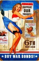 Buy War Bonds Pin-Up Advertisement Metal Sign - $30.00