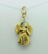 Vintage (ca. 1950) Dumbo 18K Yellow Gold Enamel Elephant Pendant - $315.00
