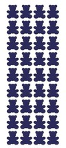 "1"" Sapphire Blue Teddy Bear Stickers Baby Shower Envelope Seals arts Crafts - $1.99+"