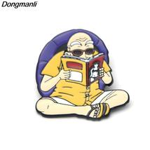 Anime Dragon Ball Cute Master Roshi Kame Sennin Metal enamel badges pin brooch b - $10.99