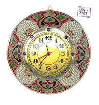Rastogi Handicrafts Brass Wall Clock Decorative Handmade Home Decor Wall... - £52.46 GBP