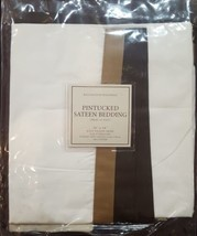 "NWT  Restoration Hardware ""Pintucked Sateen"" Taupe King Pillow Sham  - $25.69"