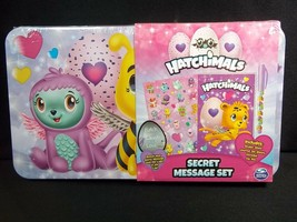 Hatchimals Secret Message Set tin case Stickers journal invisible ink pe... - $7.66