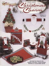 Plastic Canvas Xmas Snack Set Cookie Canister Place Mat Coaster Garland ... - $12.99