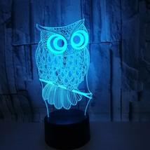 [DBF] NEW Animal Kawaii Owl 3D LED LAMP NIGHT LIGHT 7 Colors Changing To... - €20,11 EUR