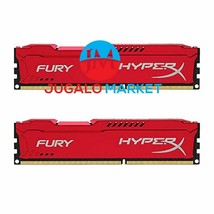Kingston HyperX FURY 16GB Kit (2x8GB) 1600MHz DDR3 CL10 DIMM - Red (HX31... - $154.40