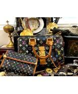 LOUIS VUITTON TAKASHI MURAKAMI SPEEDY 30 HAND BAG BLACK MONOGRAM PURSE W... - $2,850.00