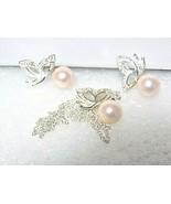 genuine pearl pendant set - $25.99