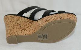 City Classified Layka S Black Sandal Wedge Heel Size 6 And Half image 6
