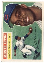 1956 Topps #194 Monte Irvin - Chicago Cubs EX Excellent - $50.00