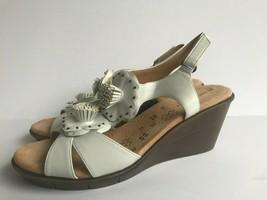 Naturalizer Shoes Womens Explorer Faux Leather Open Toe Wedge Sandals size 9.5M  - $27.81