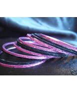 Black Metallic Pink Indian Bangle Ethnic Bracelets 2.10 - $6.99