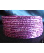 Metallic Pink Indian Bangles Ethnic Bracelets size 2.10 - $6.99
