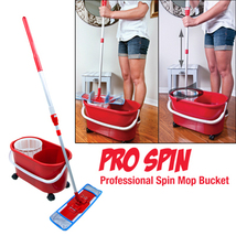 Pro Spin Microfiber Mop and Bucket  Pullman Holt Cleaning System - $81.45