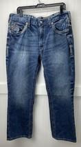 ARIAT M5 Slim Straight Sz 36x32 (tag)Mens Denim Blue Jeans 100% Cotton - $33.99