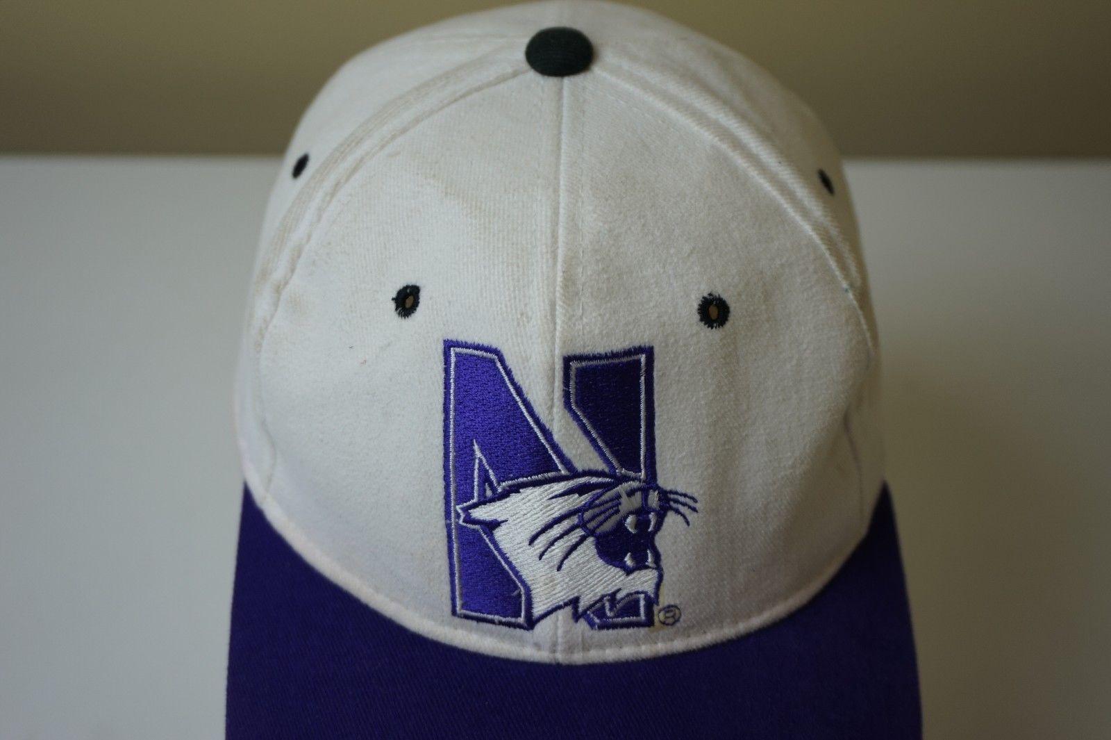 more photos a6118 71ea9 VTG NCAA Starter Northwestern Wildcats Wool Snapback Hat Cap Blockhead  Script