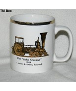 "Camden & Amboy Railroad The ""John Stevens"" 1849 Gold Rim Coffee Cup Mug - $13.99"