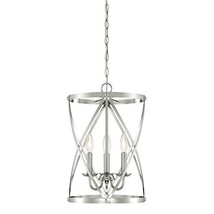 Westinghouse 6303800 Isadora Three-Light Indoor Chandelier, Brushed Nickel Finis - $162.46